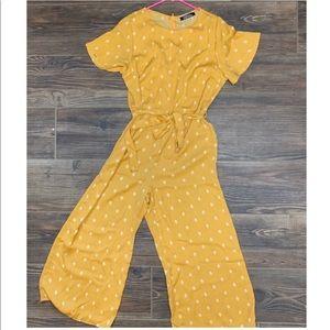 Mustard wide leg jumper